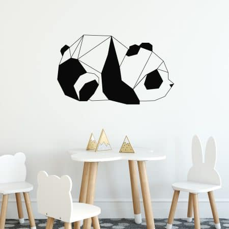 "Sticker Mural d'un ""Panda Design en Origami"""