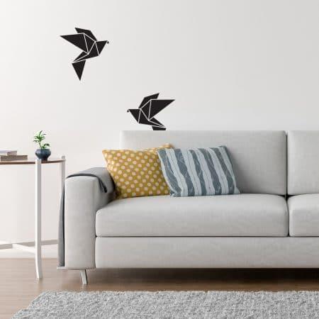 Sticker Mural d'un oiseau volant en origami