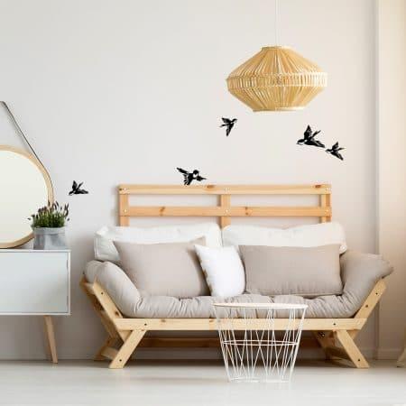 """Kit de Stickers Muraux d""""Envol d'Oiseaux"""""""
