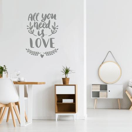 """Sticker Mural """"Tout le monde a besoin d'amour"""""""