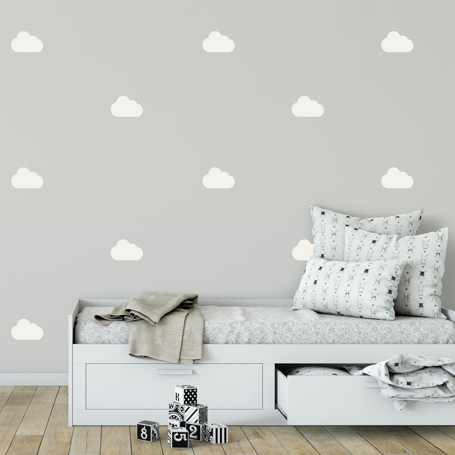 Sticker Déco - Kit de 18 stickers Nuages - Stickrs ®
